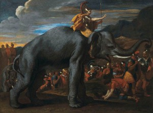 Hannibal-crossing-Alps-elephants